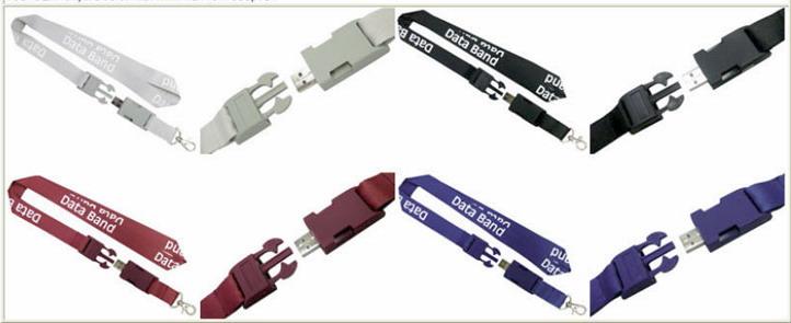 Memorias USB con lanyard