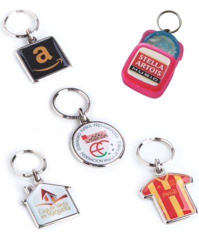 Doming sticker keyrings