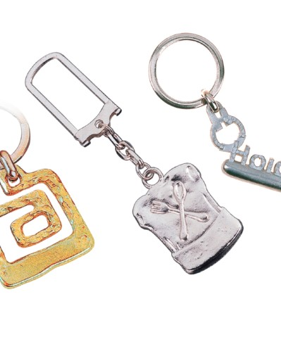 Silver or gold keyrings