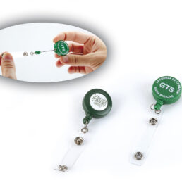 Retractable reel card holders