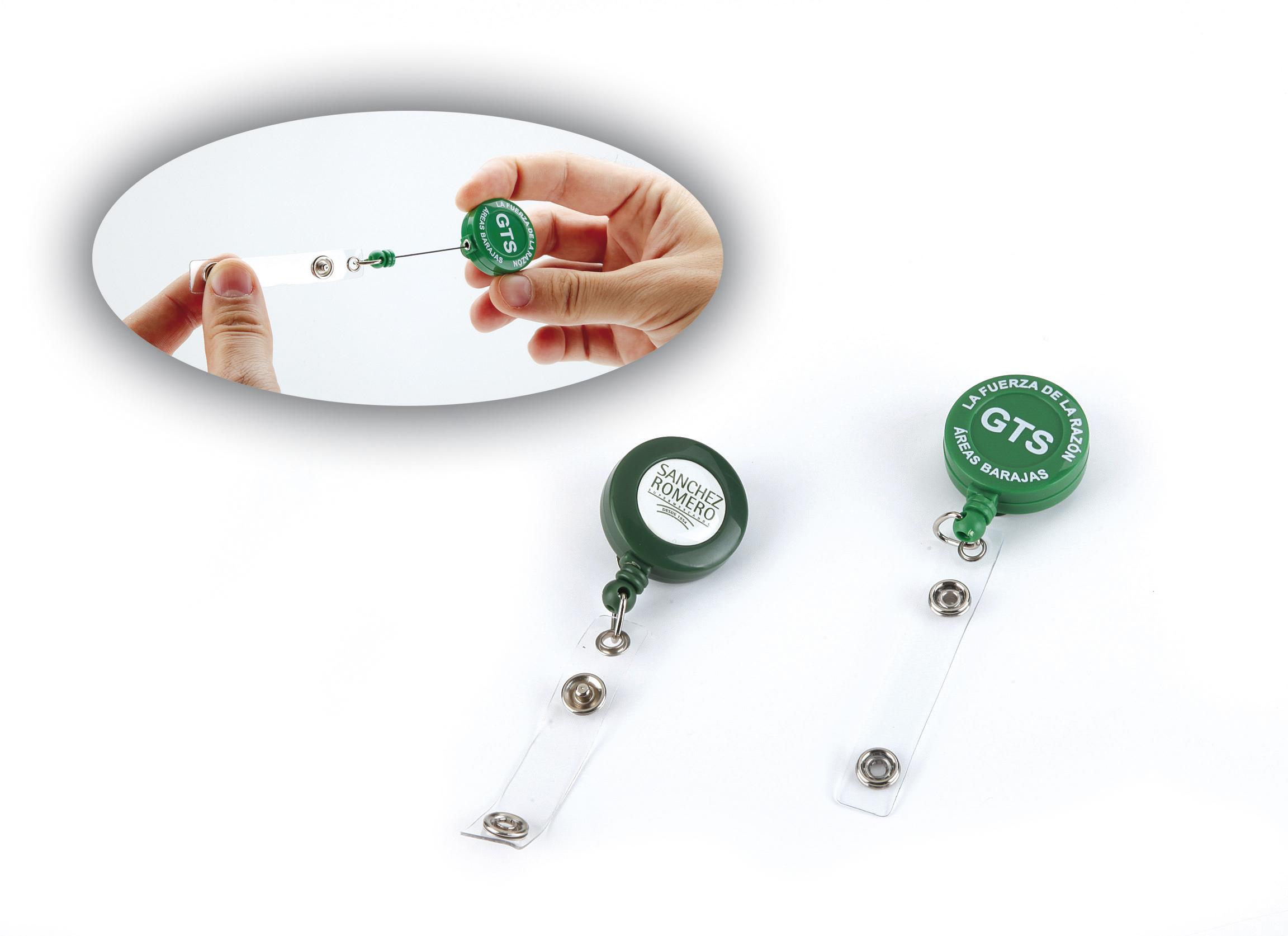 Retractable reel card holders