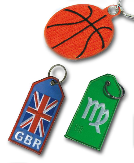 Embroidery keyrings