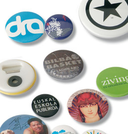 Badges with magnet attachment