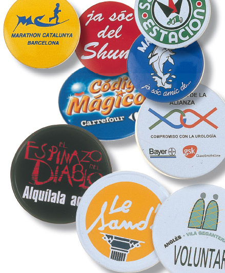 Chapas con imperdible