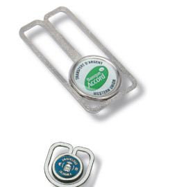 Doming sticker paper clips