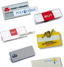 Identificadores de personal de metacrilato