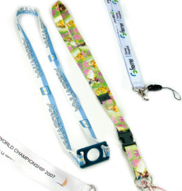Heat transfer sublimation lanyards