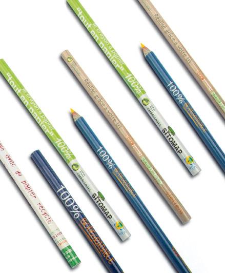 Lápices reciclados