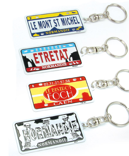 License plate keyrings