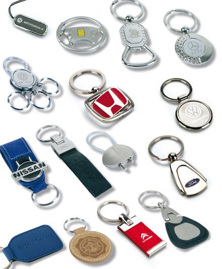 Deluxe metal keyrings