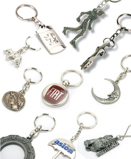 Special shape 3D metal keyrings