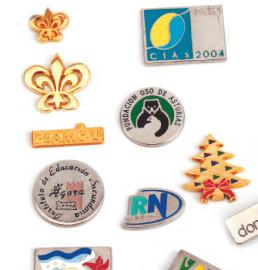 Metal pins, polished