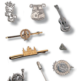 Silver or gold pins