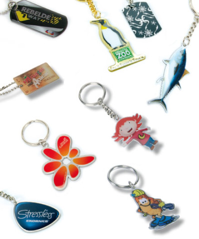Printing keyrings, custom shape
