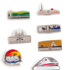Printing pins, custom shape