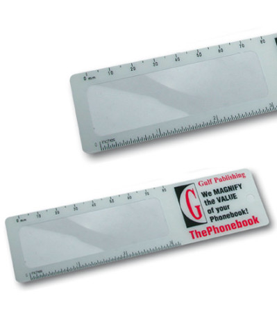Rulers with magnifyer