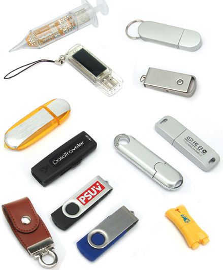 Memorias USB de diseños estándares