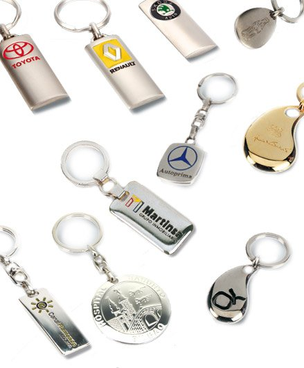 Metal keyrings, curved 3D