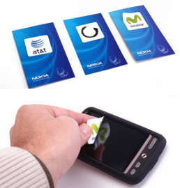 Screen cleaning microfiber stickers