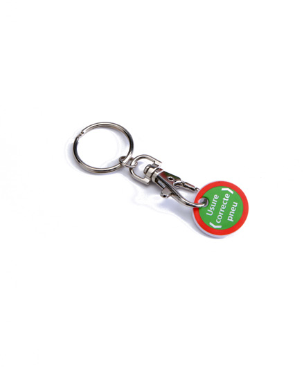 Tire wear meter keyring