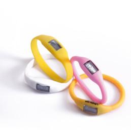 Pulseras y brazaletes de silicona con reloj