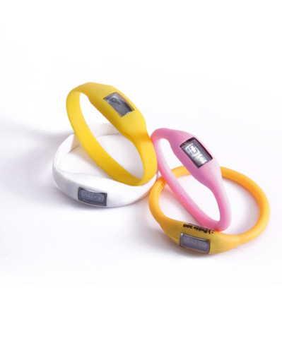 Silicone bracelets with watch