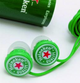 Smartphone earphones with soft pvc logo