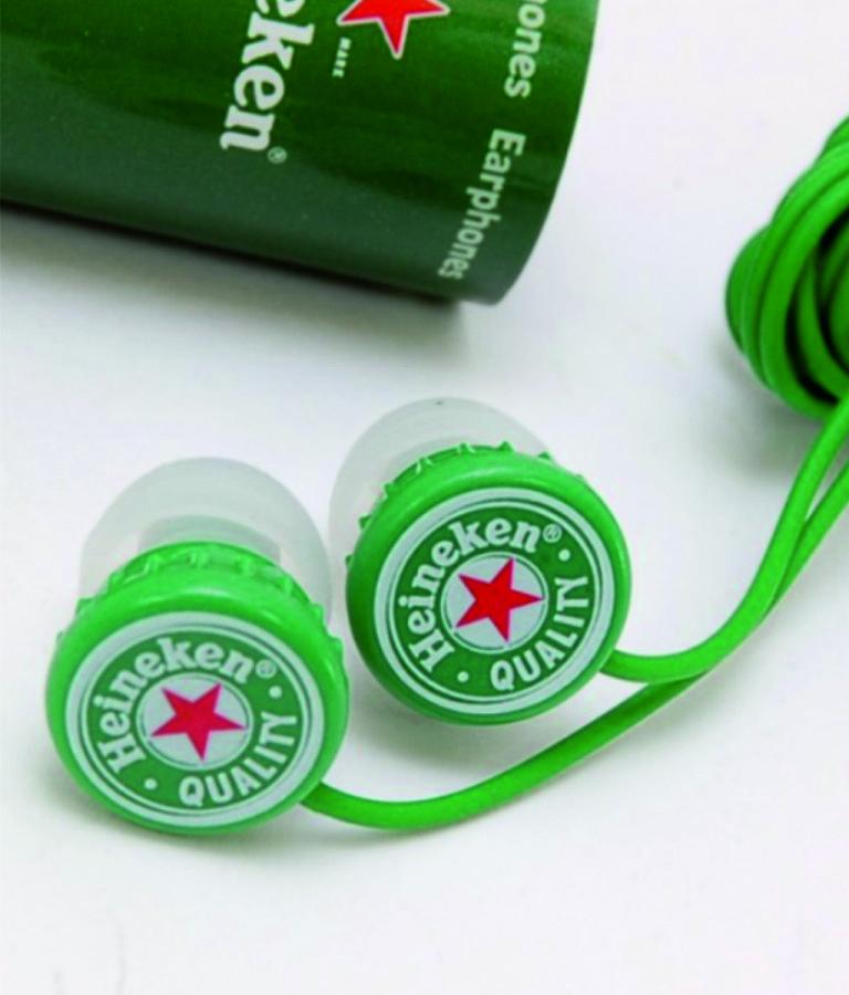 Auriculares smartphone con logo personalizado de goma pvc blando