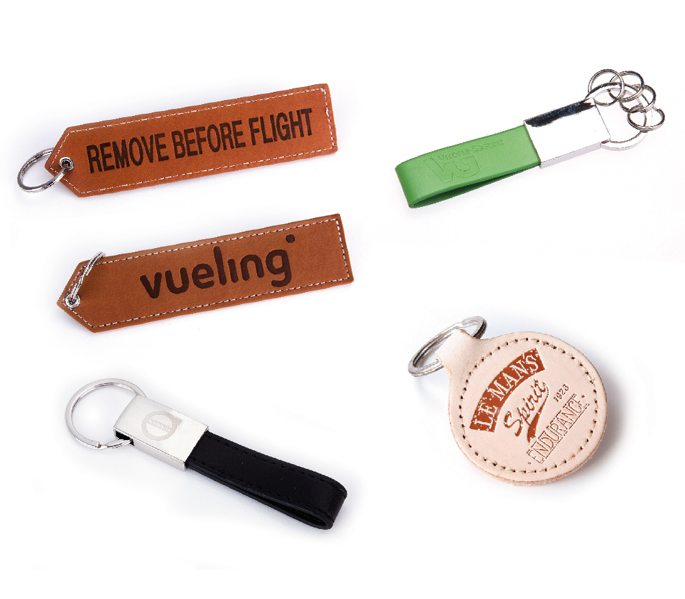 Leather and PU leather keyrings