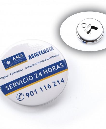 Bottle-opener badges with magnet