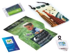 Microfiber cleaning cloths and small bags