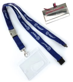 Lanyards and name badges