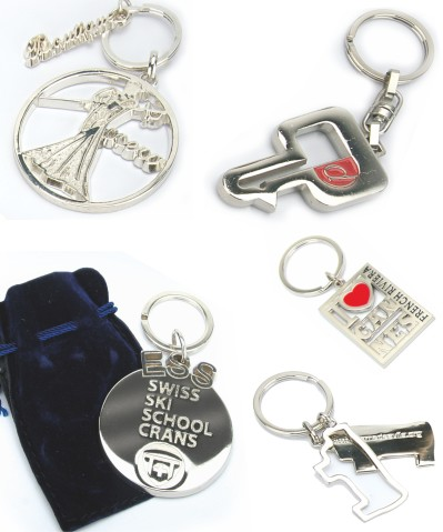 Polished metal keyrings