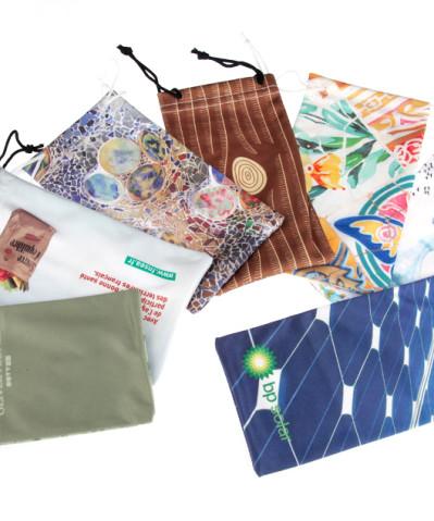 Microfiber bags for glasses