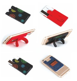 Phone stand with card holder