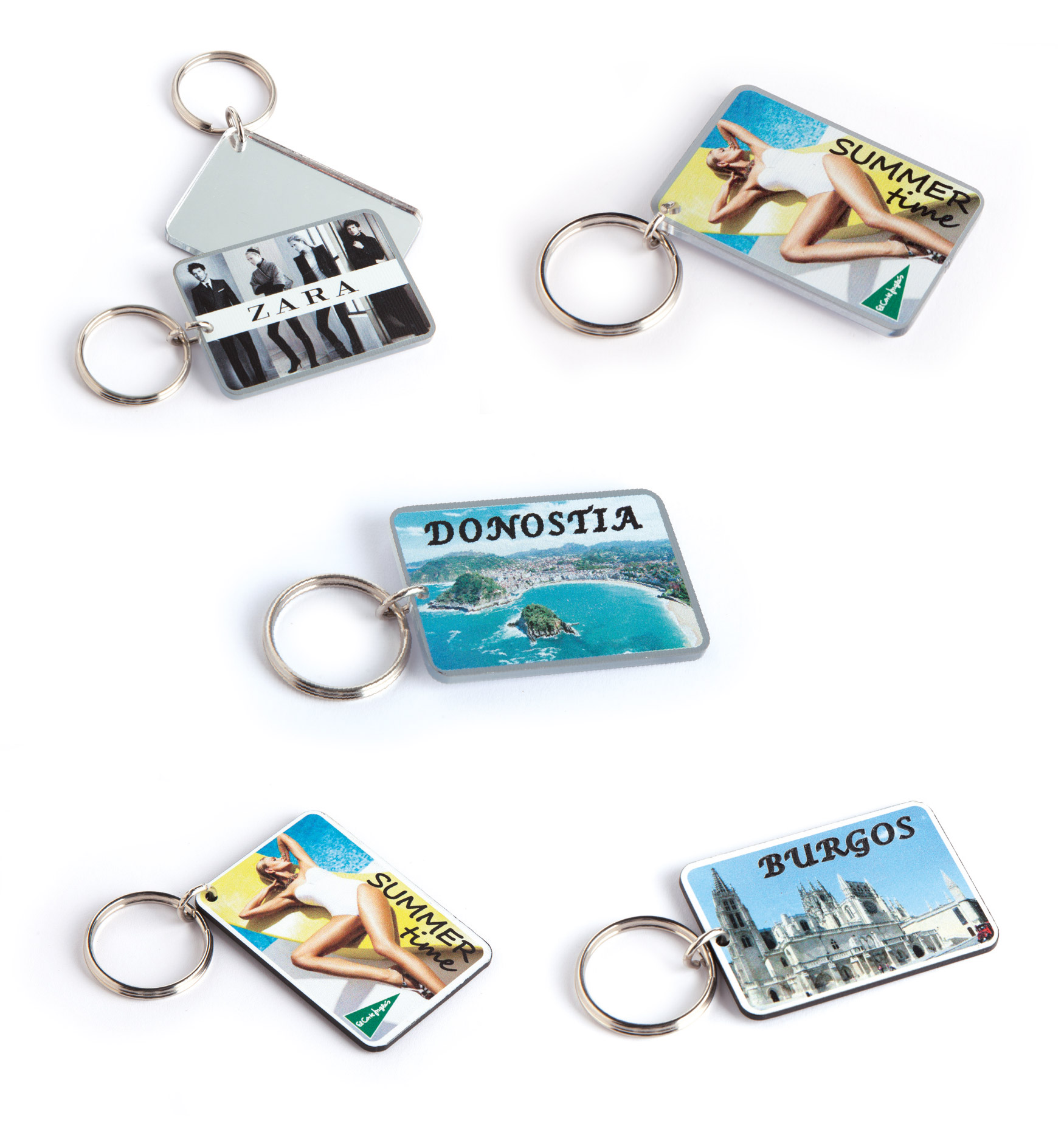 Two-layer keyring
