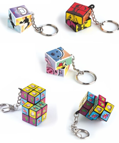 Cube PUZZLE keyrings
