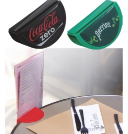 Plastic menu holder