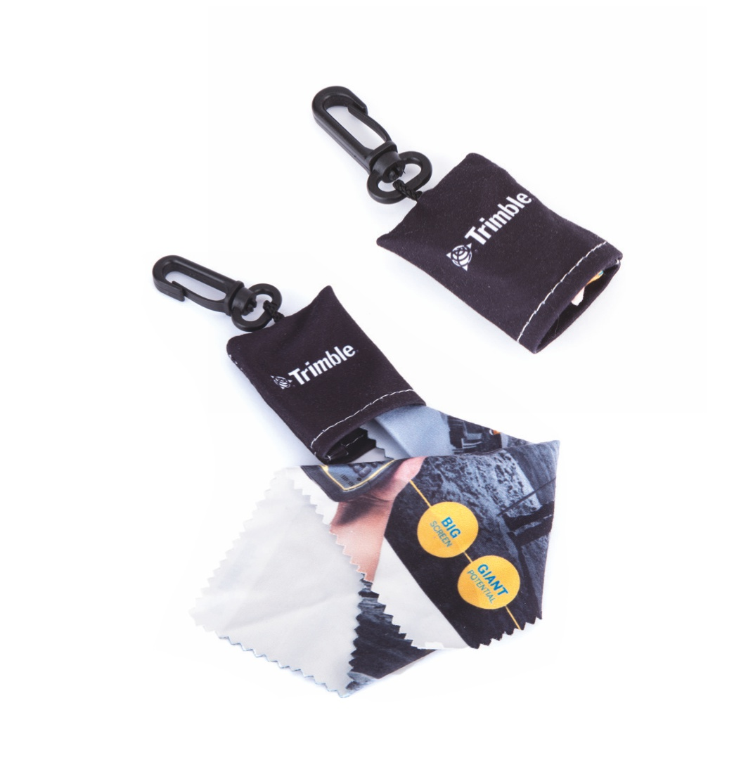 Microfiber cloth keyrings