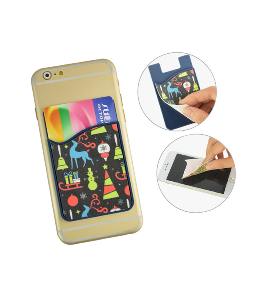 Card holder with screen cleaner microfiber stickers