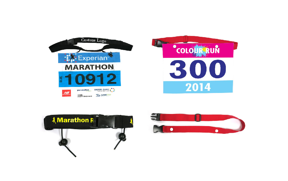 Running race number belts