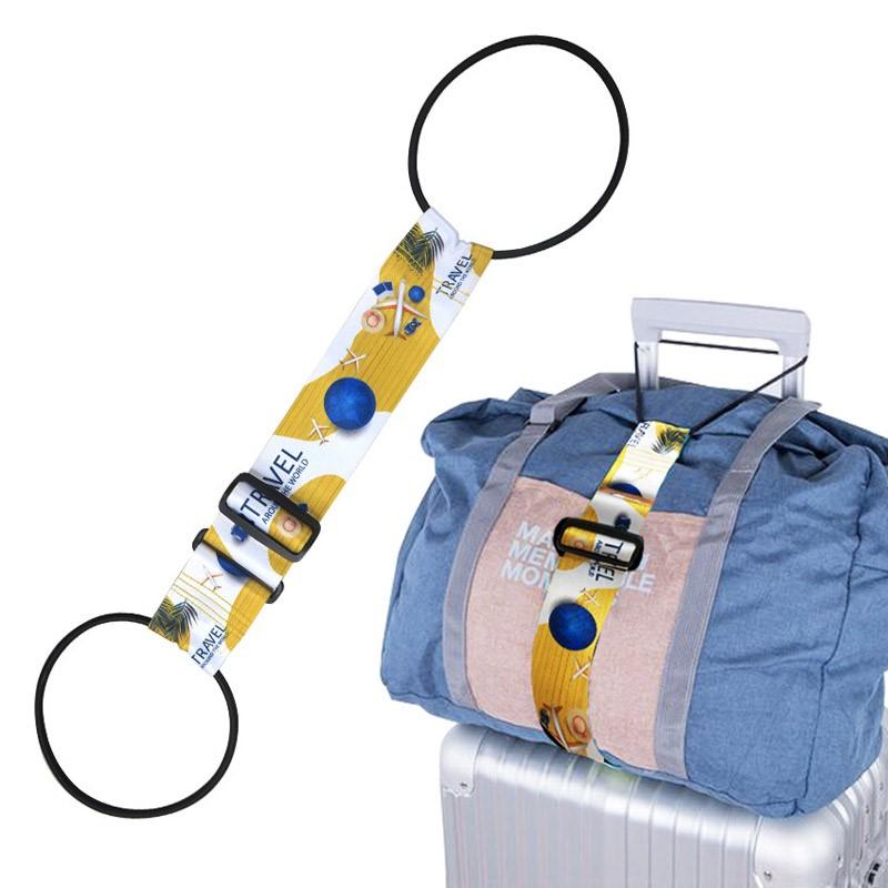 Suitcase adjustable belts