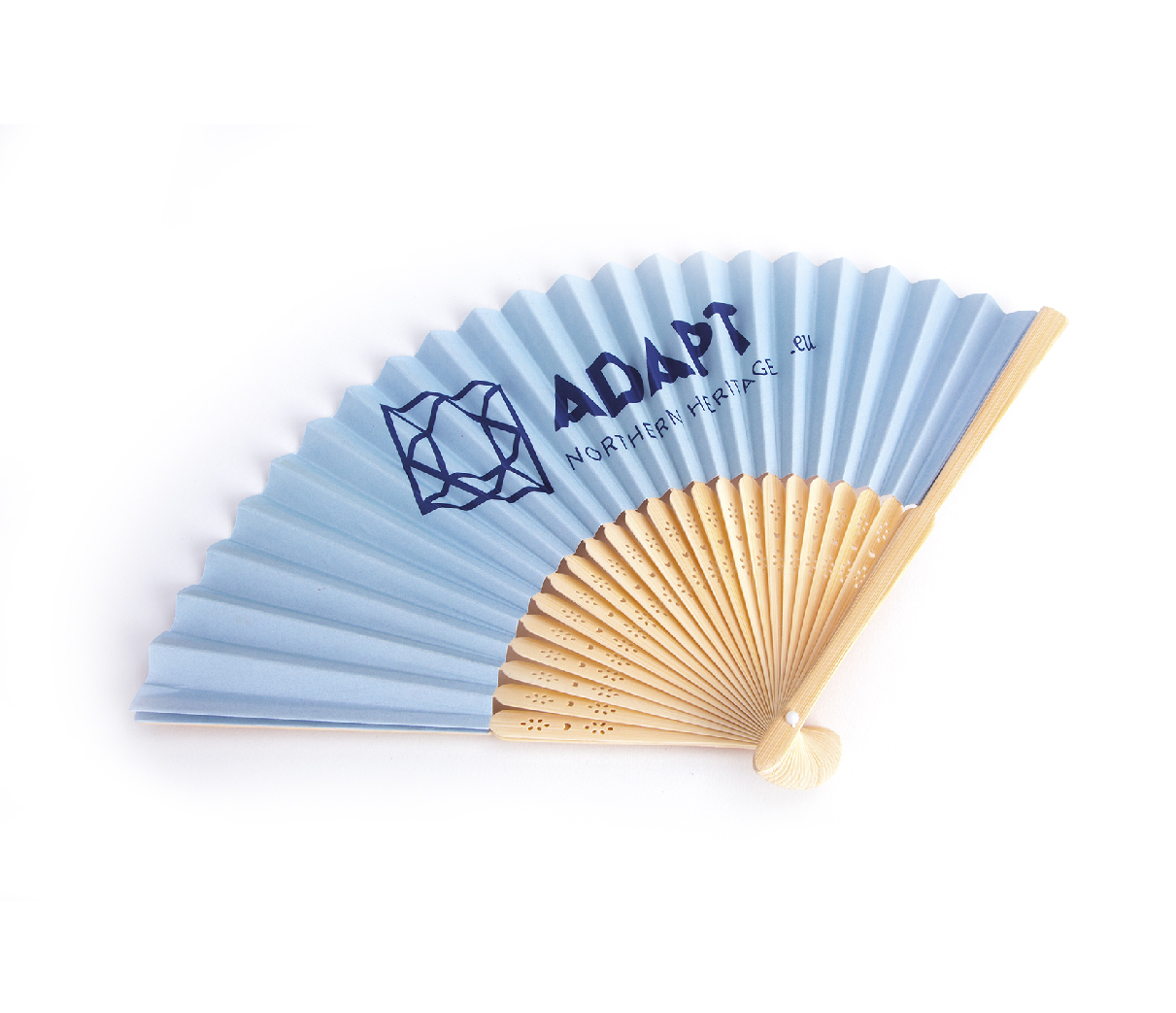 Bamboo and paper hand fans